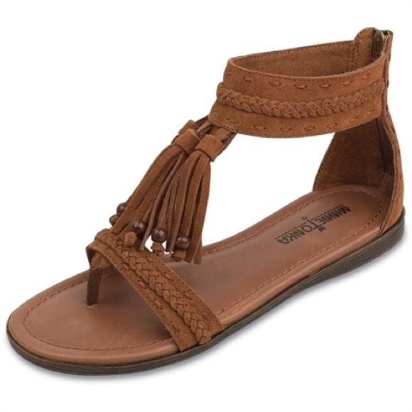 Minnetonka Shoes - Minnetonka Suede Fringe Sandals